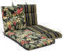SUNSET BLK/RED TROPICAL CHAISE CUSHION