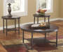 Sandling Rustic 3 Piece Occasional Table Set lifestyle living room