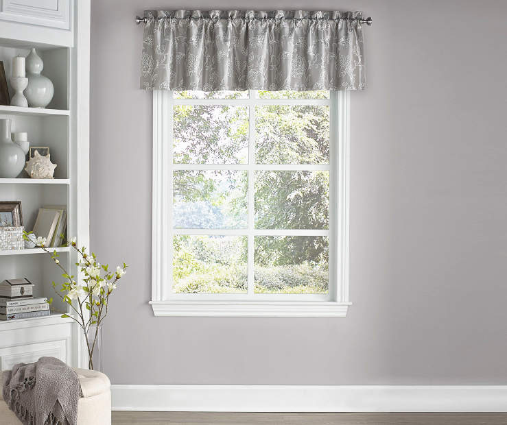 Sanford Smoke Window Valance 52 Inches x 18 Inches Window View
