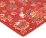 Sanjula Red Floral Indoor Scatter Rug, 17x30 Silo Image Close Up Corner