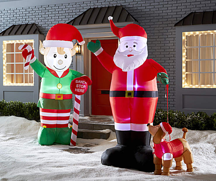 Santa Amp Elf Inflatables Collection Big Lots