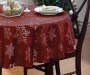 "Scarlet Windfall Snowflakes Round Fabric Tablecloth, (60"")"
