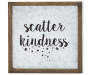 Scatter Kindness Framed Metal Wall Plaque silo front