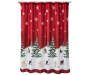 Scenic Tree with Dogs Shower Curtain and Hooks Set On Shower Rod Front View Silo Image
