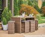 Shadow Creek 7 Piece All Weather Wicker Bar Table and Stool Set Lifestyle