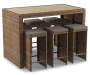 Shadow Creek 7 Piece All Weather Wicker Bar Table and Stool Set Silo Angled View