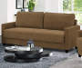 Shelby Taupe Storage Sofa lifestyle