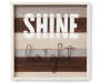 Shine Bright Wooden and Metal Wall Decor Overhead View Silo Image