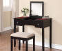 Shirley Black Cherry Mirror Vanity Set with Stool lifestyle