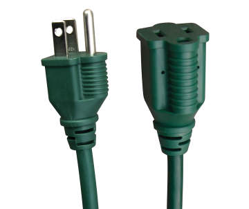 Eco Plugs 45 Outdoor Green Extension Cord