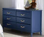 Sierra Ridge Mesa Blue 6 Drawer Dresser lifestyle