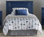 Sierra Ridge Mesa Blue Twin Panel Headboard lifestyle