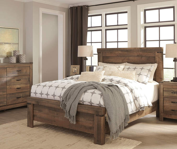 The Trinell Queen Bedroom Collection From Ashley Inspires Rustic Tones Into Your Home Each Piece Features A Clic Finish That Brings Countryside Charm To