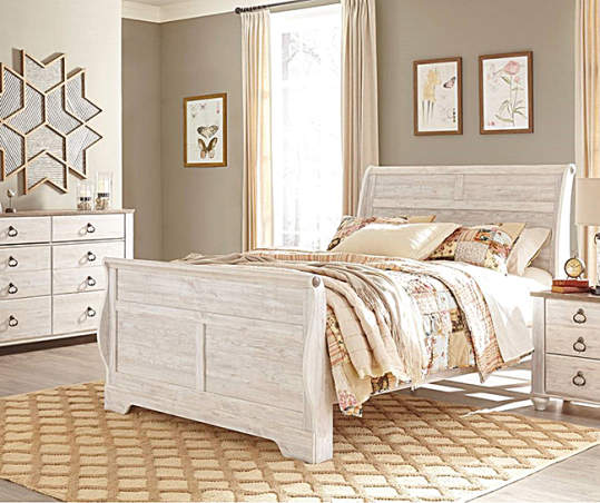 By Ashley Willowton Queen Bed Big Lots, Willowton Queen Sleigh Bed