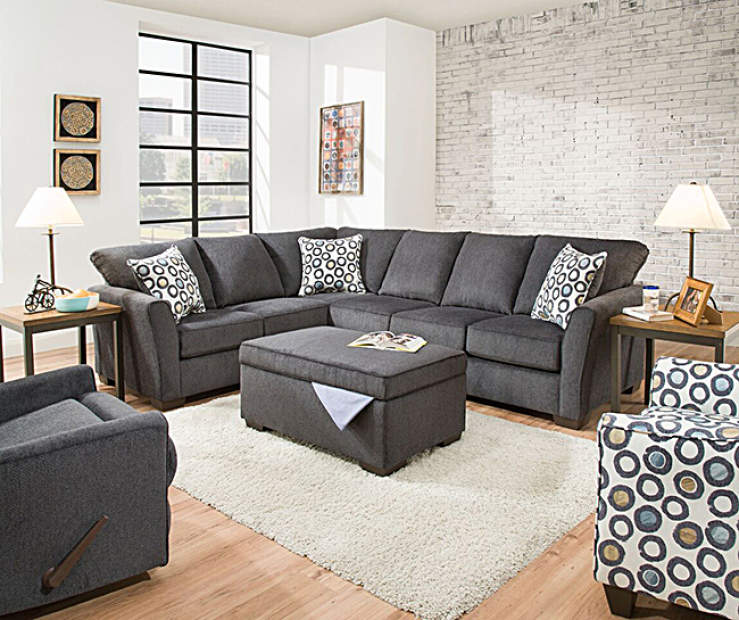 Simmons Dawson Living Room Sectional Ottoman Collection Big Lots