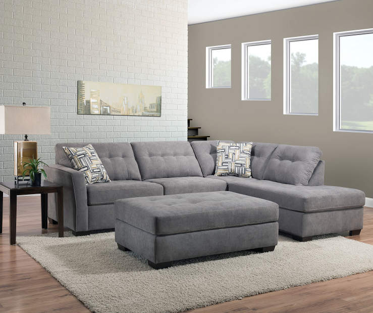 Living Room Furniture Sales: Simmons Pasadena Gray Living Room Collection