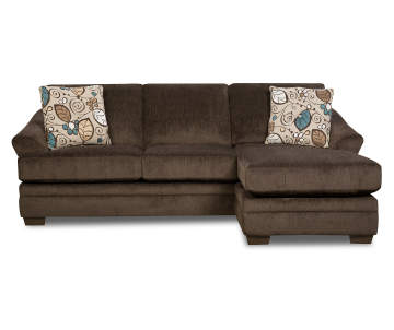 Simmons Sunflower Brown Sofa Chaise Base 1 Of 2 Pieces