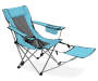 Sky Blue Quad Chair with Footrest silo angled