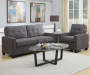 Slate Tufted Sofa lifestyle