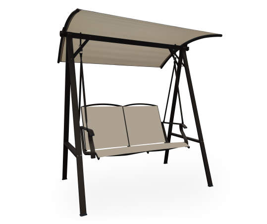 Sling Seating 2 Person Patio Swing With, Big Lots Outdoor Canopy Swing