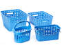 Small Blue Weave Stacking Bin silo front collection