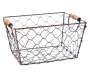 Small Chicken Wire Bin without Liner Angled View Silo Image