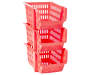 Small Coral Stack N Nest Bins 3 Pack silo front stacked