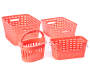 Small Coral Weave Stacking Bin silo front collection