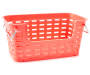 Small Coral Weave Stacking Bin silo front