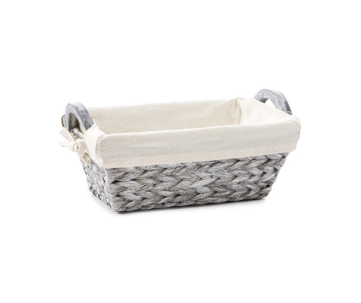 Small Gray Water Hyacinth Bin silo front