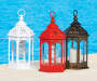 Small Moroccan Battery Operated LED Lantern Collection lifestyle