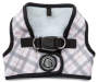 Small Plaid White Dog Harness