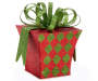Small Red and Green Diamond Gift Box silo front