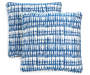 Snorkel Indigo Outdoor Square Throw Pillow 2 Pack