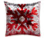 Snowflake Mermaid Throw Pillow 17 inch x 17 inch silo front