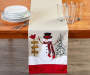 Snowman Applique Table Runner 13 inch x 72 inch silo front corner