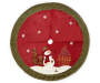 Snowman Burlap Tree Skirt 56 inch silo front