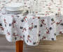 Snowman Toss PEVA Round Tablecloth 60 inch lifestyle