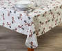 Snowman Toss PEVA Tablecloth 52 inch x 52 inch lifestyle
