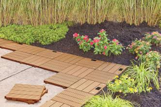 Interlocking Faux Wood Deck & Patio Tiles, 10-Pack | Big Lots