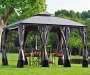 Somerset Gazebo Replacement Curtain 10 Feet by 12 Feet Outdoor Setting Lifestyle Image