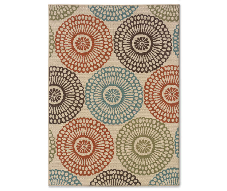 Somerville Beige Indoor Outdoor Area Rug 6 feet 7 inch x 9 feet 6inch silo front