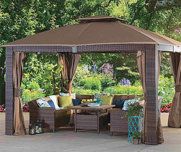 Sonoma Resin Wicker Gazebo Replacement Mosquito Netting