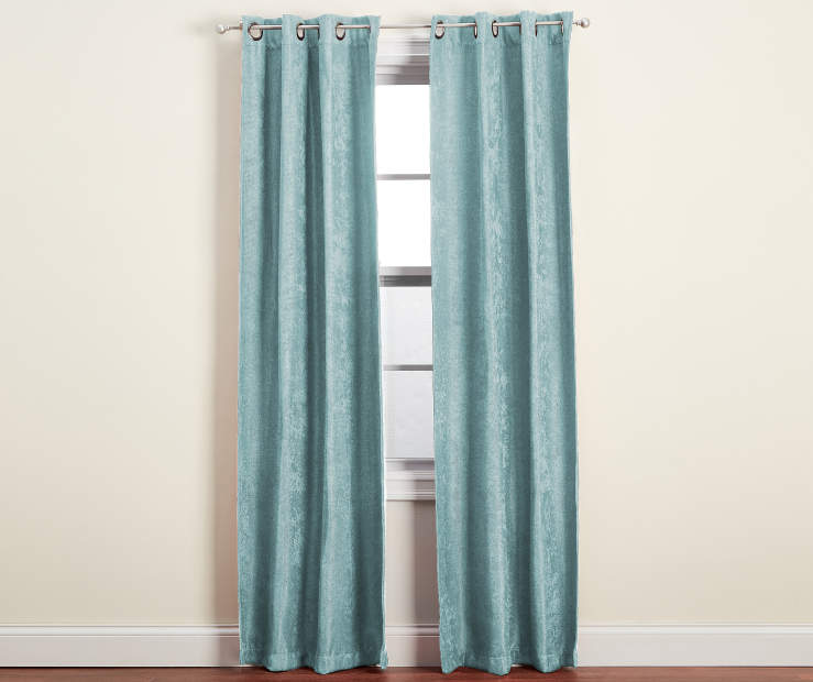 Spa Blue Graham Blackout Curtain Panel Pair 84 inch lifestyle