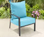 Spa Turquoise Outdoor Deep Seat and Back Cushions 2 Piece Set lifestyle