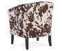 Spencer Cow Print Club Chair silo front