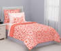 Spiral coral twin comforter set Lifestyle image