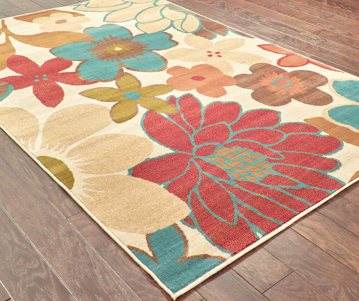 Springdale Ivory Area Rug 6 Feet 7 Inches by 9 Feet 6 Inches Angled View Lifestyle Image