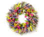 Springtime Floral and Butterfly Wreath 24 inches Silo Front