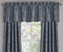 Stanford Midnight Floral Blackout Curtain Panel 108 Inches Window View Close Up With Valance